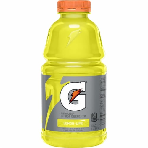 Gatorade Thirst Quencher Lemon-Lime Electrolyte Enhanced Sports Drink Perspective: back
