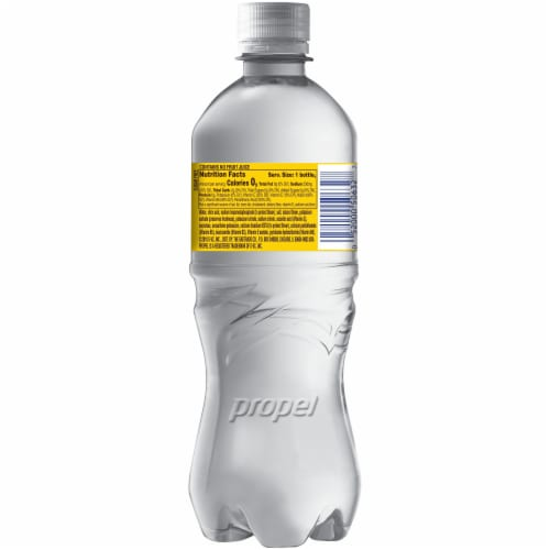 Propel Lemon Flavored Water Zero Calorie Sports Drink Enhanced with Electrolytes Perspective: back
