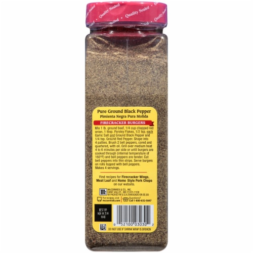 McCormick® Pure Ground Black Pepper Perspective: back