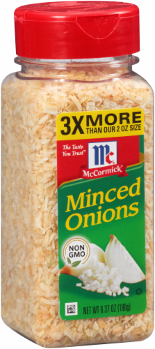 McCormick Minced Onions Shaker Perspective: back