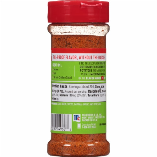 McCormick Perfect Pinch Rotisserie Chicken Seasoning Perspective: back