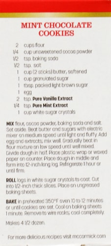 McCormick Pure Mint Extract Perspective: back