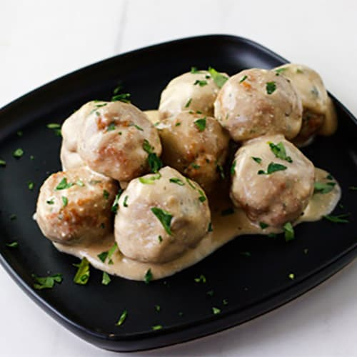 McCormick Swedish Meatballs Seasoning & Sauce Mix Perspective: back
