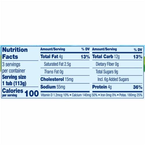Stonyfield® Organic YoBaby Peach & Pear Whole Milk Yogurt Perspective: back
