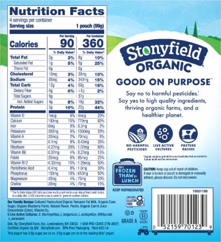Stonyfield® Organic Kids Blueberry Lowfat Yogurt Perspective: back