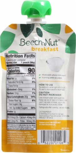 Beech-Nut Breakfast Yogurt Banana & Strawberry Blend Stage 4 Baby Food Perspective: back