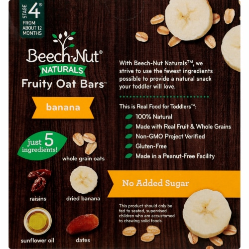 Beech-Nut Naturals Banana Fruity Oat Bars Perspective: back