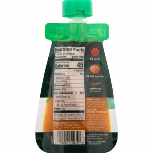 Beech-Nut® Naturals Stage 2 Apple Pumpkin & Cinnamon Baby Food Pouch Perspective: back