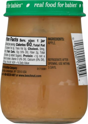 Beech-Nut Naturals Apple Stage 1 Baby Food Perspective: back