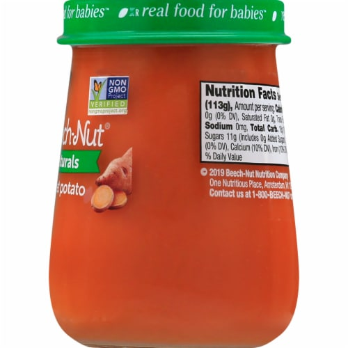 Beech-Nut Naturals Sweet Potato Stage 1 Baby Food Perspective: back