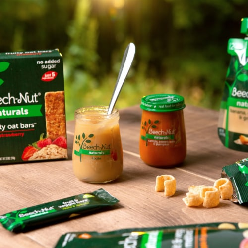 Beech-Nut Naturals Stage 2 Spinach Zucchini & Peas Baby Food Jar Perspective: back