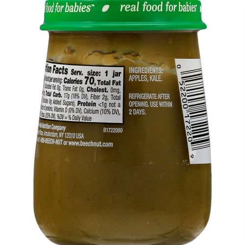 Beech-Nut Naturals Apple & Kale Stage 2 Baby Food Perspective: back