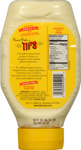 Duke's Squeeze Mayonnaise Perspective: back