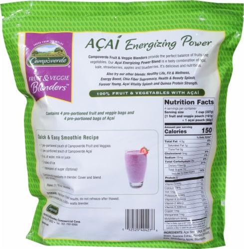 Campoverde Acai Energizing Power Fruit & Veggie Blenders Perspective: back
