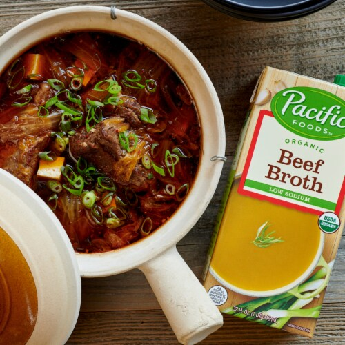 Pacific Organic Low Sodium Beef Broth Perspective: back