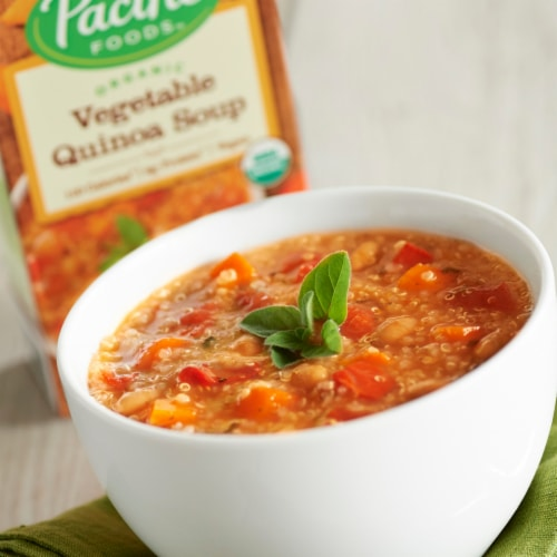 Pacific Organic Vegetable Quinoa Soup Perspective: back