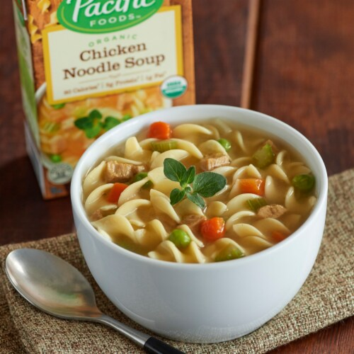 Pacific Foods Organic Chicken Noodle Soup Perspective: back