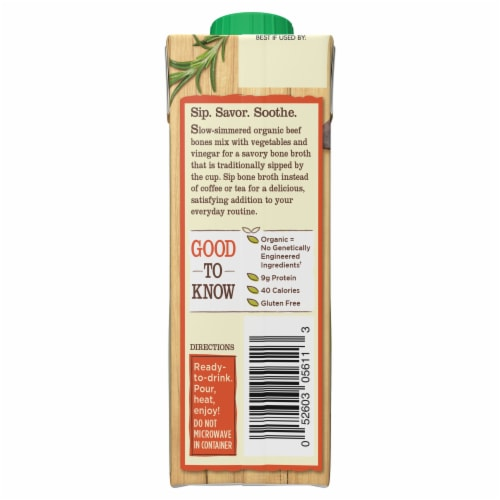 Pacific Foods™ Organic Beef Bone Broth Perspective: back