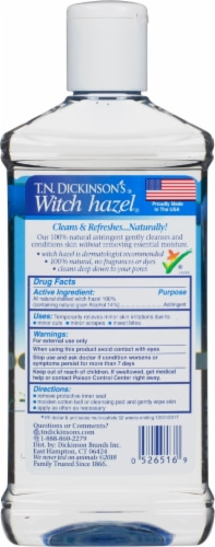 T.N. Dickinson's Witch Hazel Natural Astringent Perspective: back