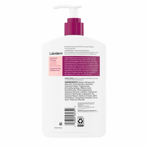 Lubriderm Advanced Therapy Skin Lotion Perspective: back