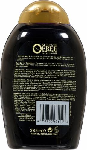 OGX Blonde Enhance + Purple Toning Shampoo Perspective: back