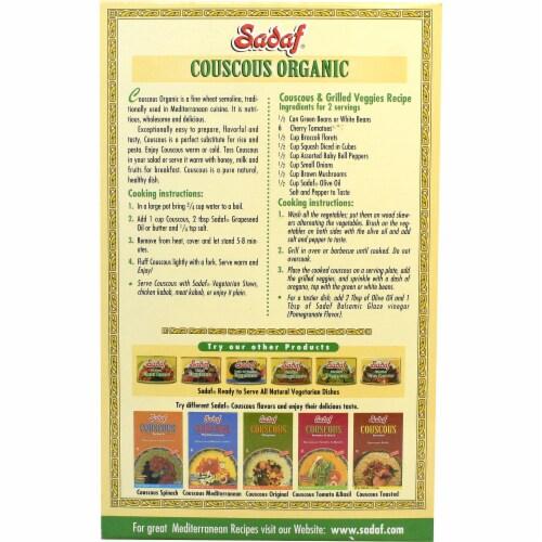 Sadaf Organic Couscous Mix Perspective: back