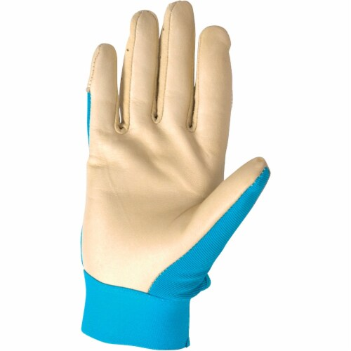 Wells Lamont HydraHyde Women's Large Cowhide Leather Adjustable Wrist Work Glove Perspective: back