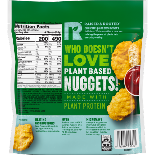 Raised & Rooted Nuggets Made with Plants Perspective: back