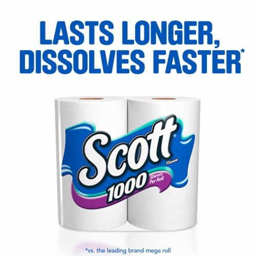 Scott® Unscented Bathroom Tissue Perspective: back