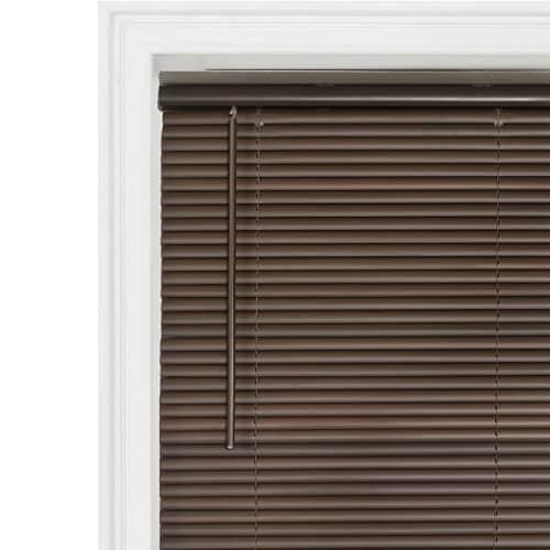 Achim Cordless GII Deluxe Sundown 1 Inch Vinyl Window Room Darkening Mini Blinds Perspective: back