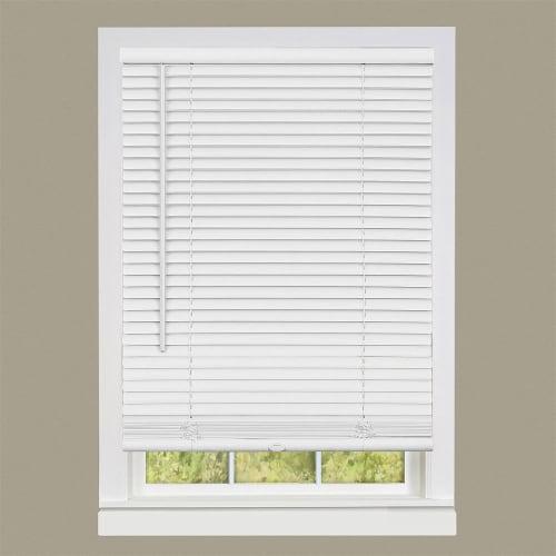 "Cordless GII Deluxe Sundown 1"" Room Darkening Mini Blind 39x64 - Pearl White Perspective: back"