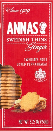 Anna's Swedish Ginger Thins Cookies Perspective: back