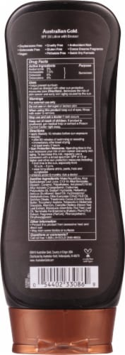 Australian Gold Instant Bronzer Lotion Sunscreen SPF 30 Perspective: back