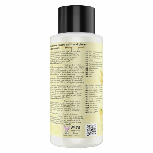 Love Beauty and Planet Hope & Repair Coconut Oil & Ylang Ylang Shampoo Perspective: back