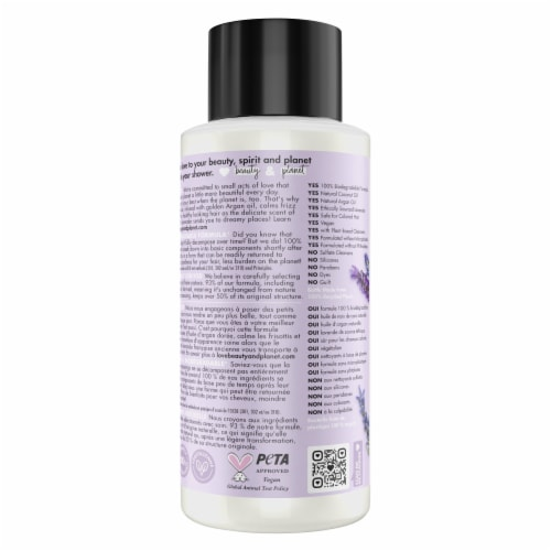 Love Beauty and Planet Smooth and Serene Argan Oil & Lavender Shampoo Perspective: back