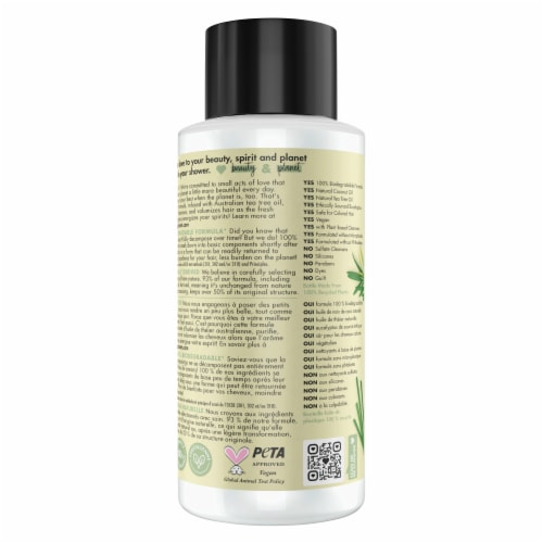 Love Beauty and Planet Sulfate-Free Radical Refresher Tea Tree Oil & Vetiver Clarifying Shampoo Perspective: back