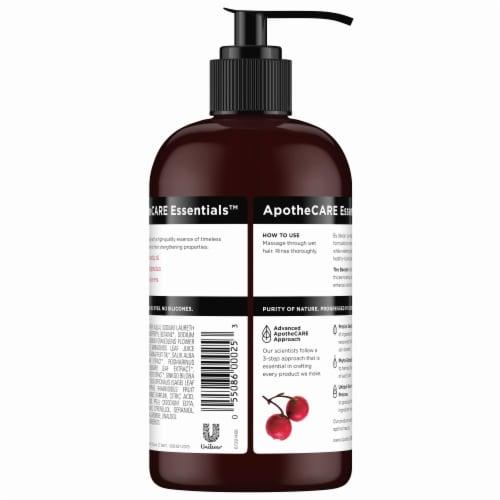 ApotheCARE Essentials Rosehip Oil Geranium Aloe Vera Shampoo Perspective: back
