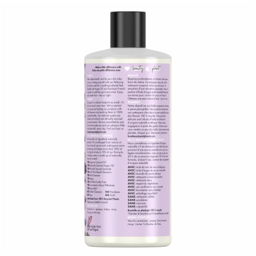 Love Beauty and Planet Argan Oil & Lavender Relaxing Rain Body Wash Perspective: back