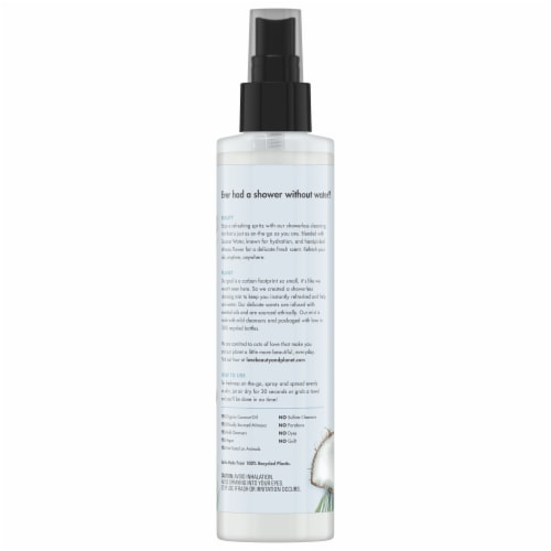 Love Beauty & Planet Radical Refresher Coconut Water & Mimosa Flower Cleansing Body Mist Perspective: back