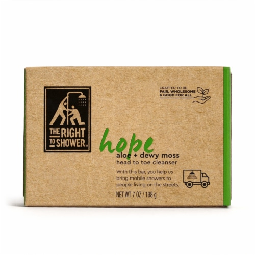 The Right To Shower Hope Aloe + Dewy Moss Shampoo Bar & Bar Soap Perspective: back