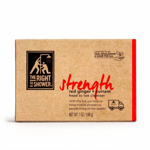 The Right To Shower Strength Red Ginger + Currant Shampoo Bar & Bar Soap Perspective: back