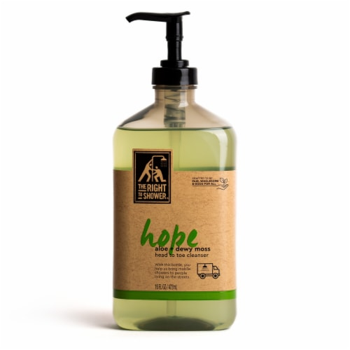 The Right To Shower Hope Aloe + Dewy Moss Body Wash Perspective: back