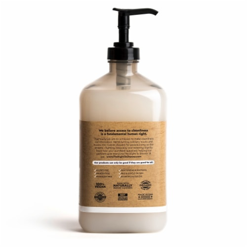The Right To Shower Dignity Charcoal + Cotton Blossom Body Wash Perspective: back