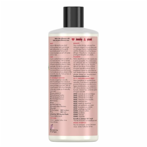 Love Beauty and Planet Rosehip & Patchouli Nurturing Nectar Body Wash Perspective: back