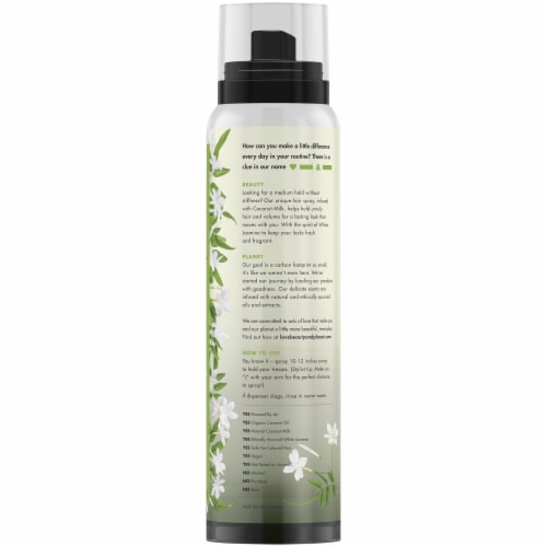 Love Beauty and Planet Coconut Milk & White Jasime Medium Hold & Volume Hair Spray Perspective: back