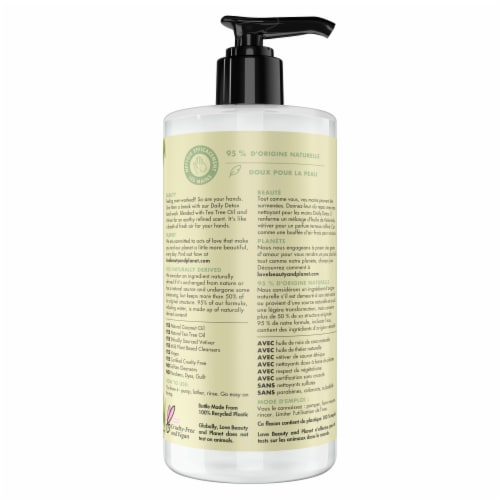 Love Beauty & Planet Daily Detox Tea Tree Oil & Vetiver Hand Soap Perspective: back