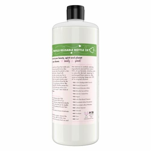 Love Beauty & Planet Sulfate-Free Murumuru Butter & Rose Shampoo Perspective: back