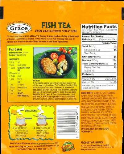 Grace Fish Tea Soup Mix Perspective: back