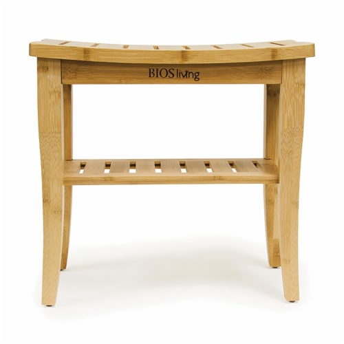 BIOS Living 60058 Bamboo Shower Bench Perspective: back