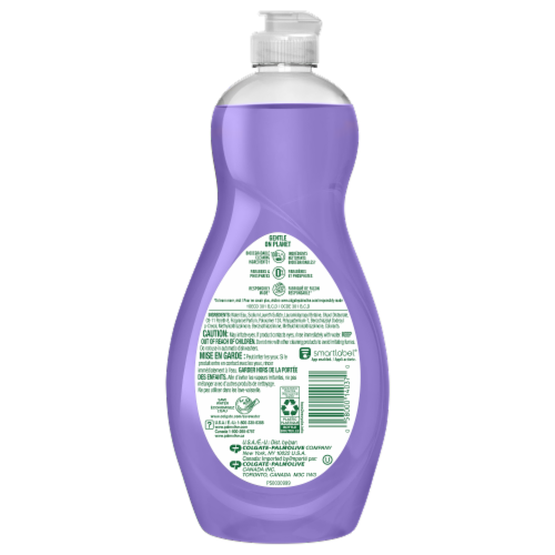 Palmolive Ultra Soft Touch Almond Milk & Blueberry Scent Dish Liquid Perspective: back
